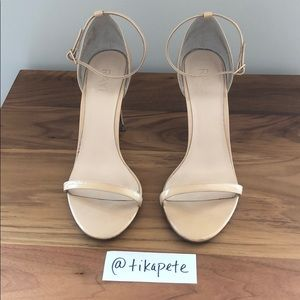 Raye nude patent leather heels